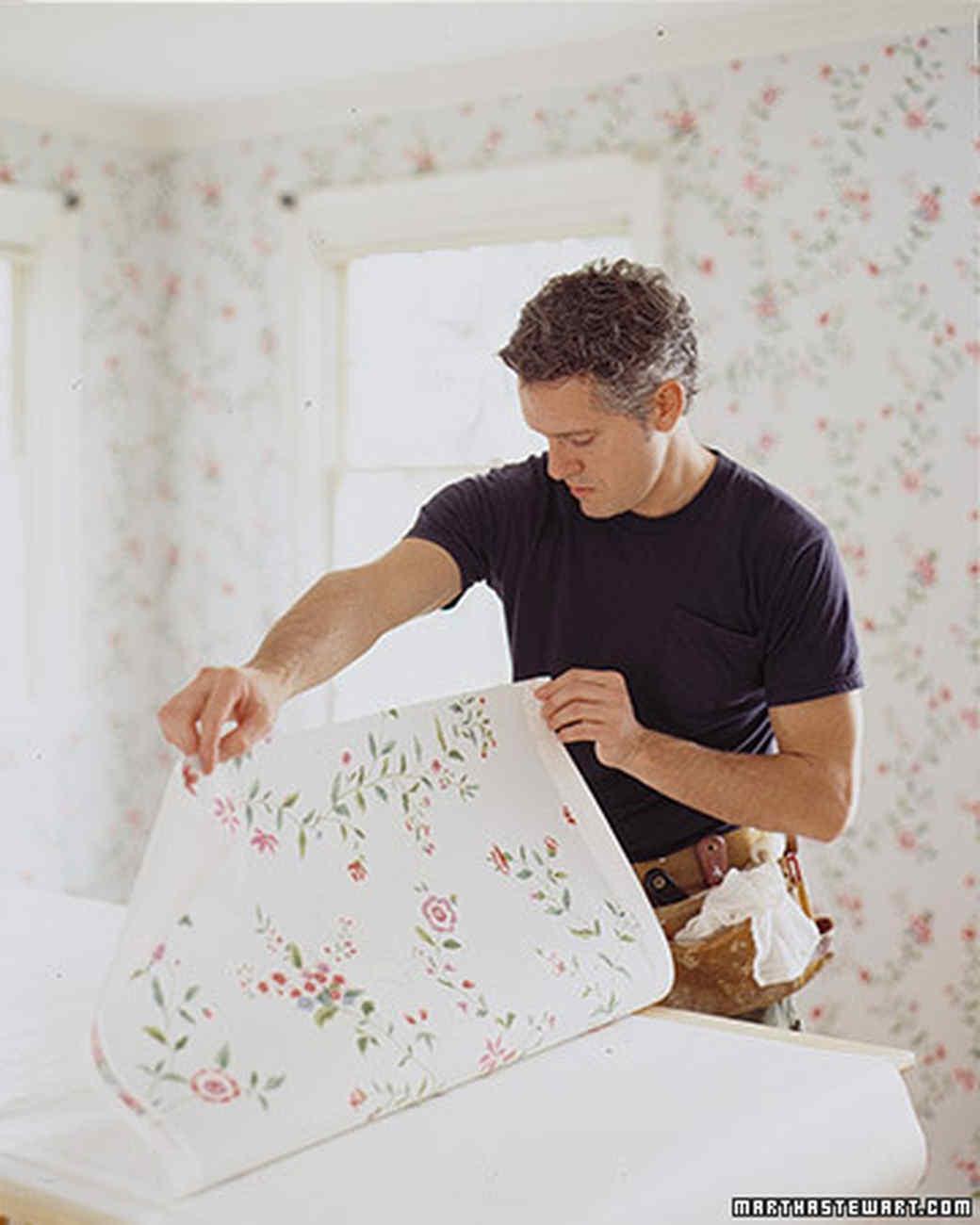 how to hang wallpaper How to Hang Wallpaper | Martha Stewart how to hang wallpaper