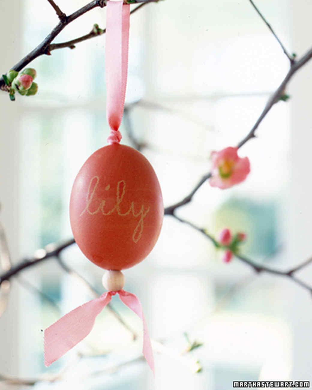 Beaded Egg Ornaments