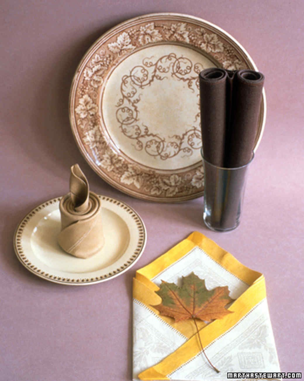 & Napkin-Folding Ideas | Martha Stewart