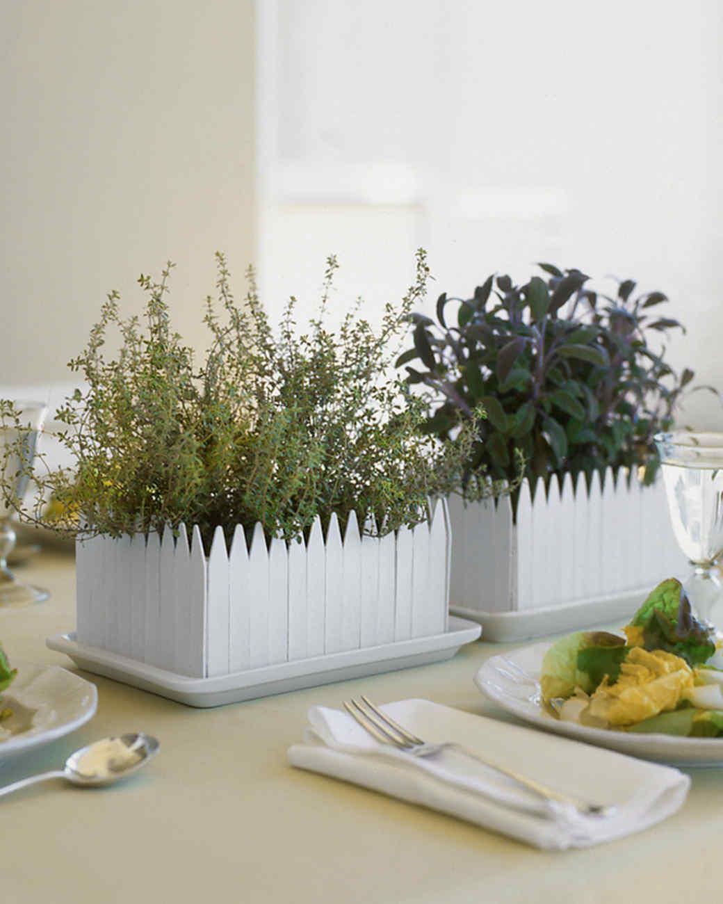 Superbe Herb Garden Centerpiece