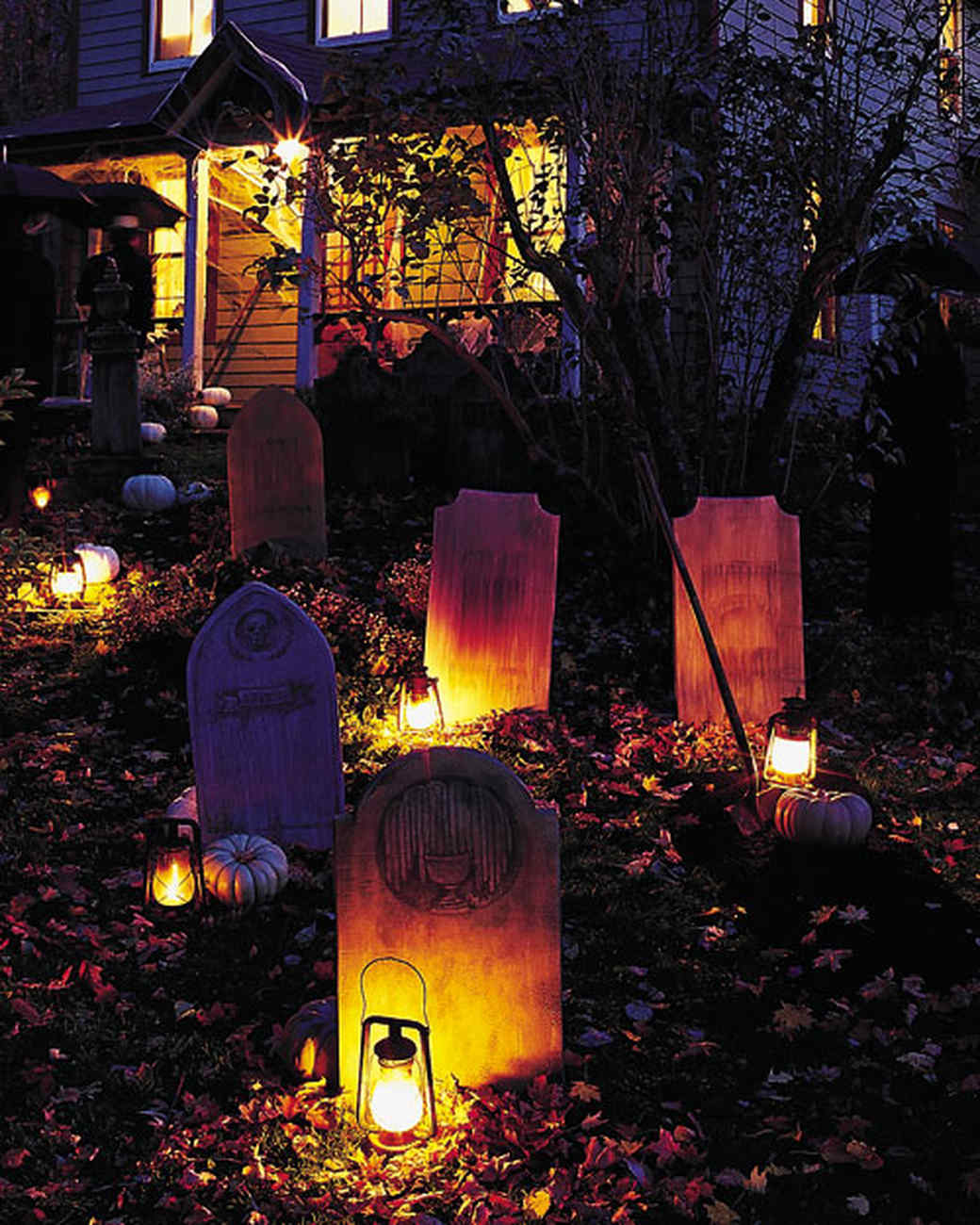 tombstone yard halloween decorations martha stewart - Cemetery Halloween Decorations