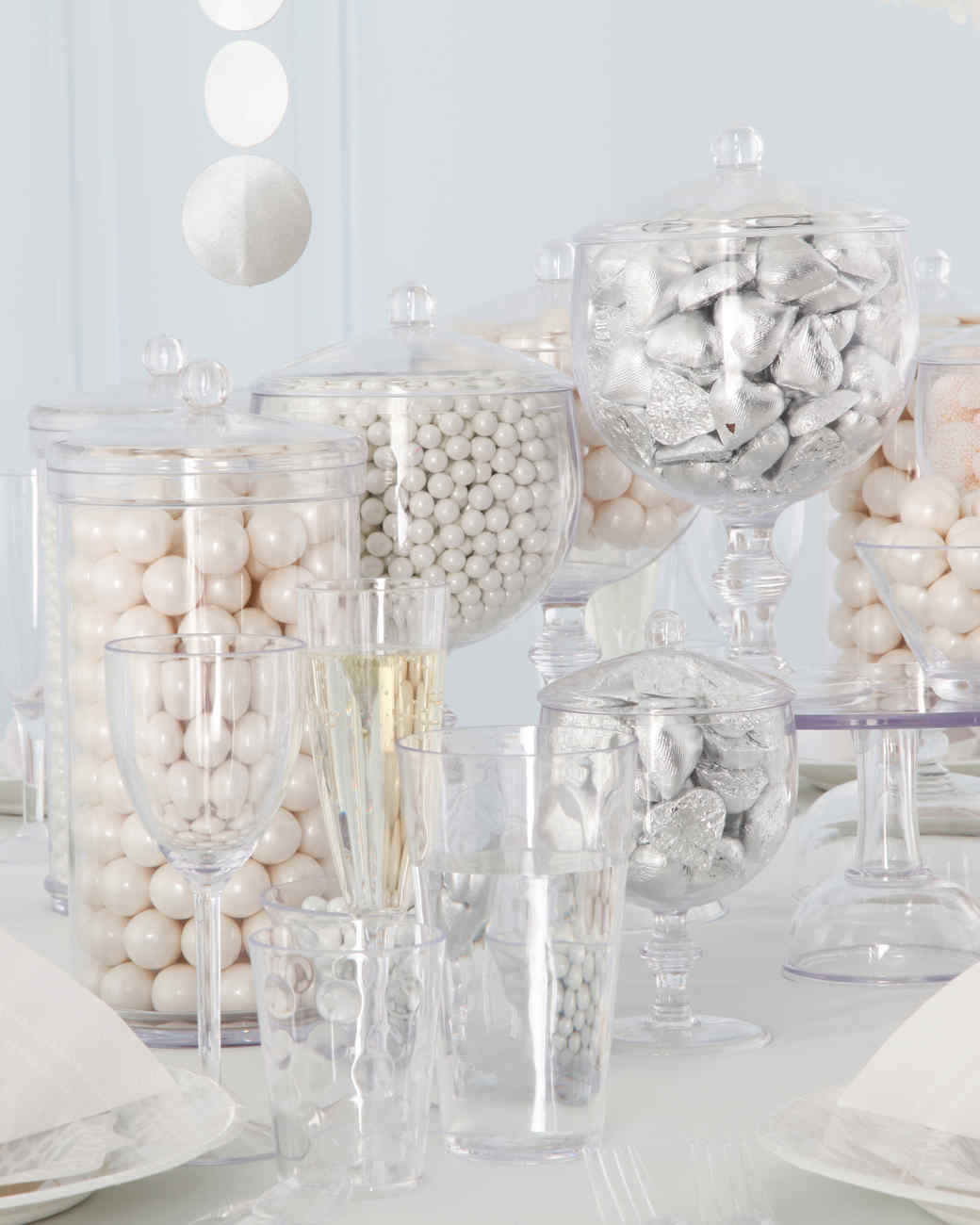 All White Party Centerpieces Kitchen And Bedroom Interior Design