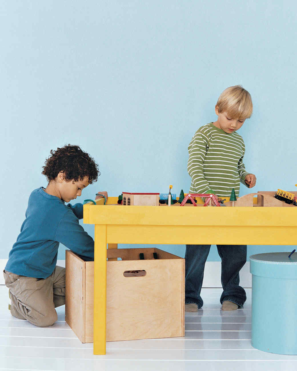 Under Table Bins Make Cleanup Easy. We Chose Large Boxes, But Several Small  Ones Would Serve As Well. If You Label The Containers, Kids Can Quickly  Find ...