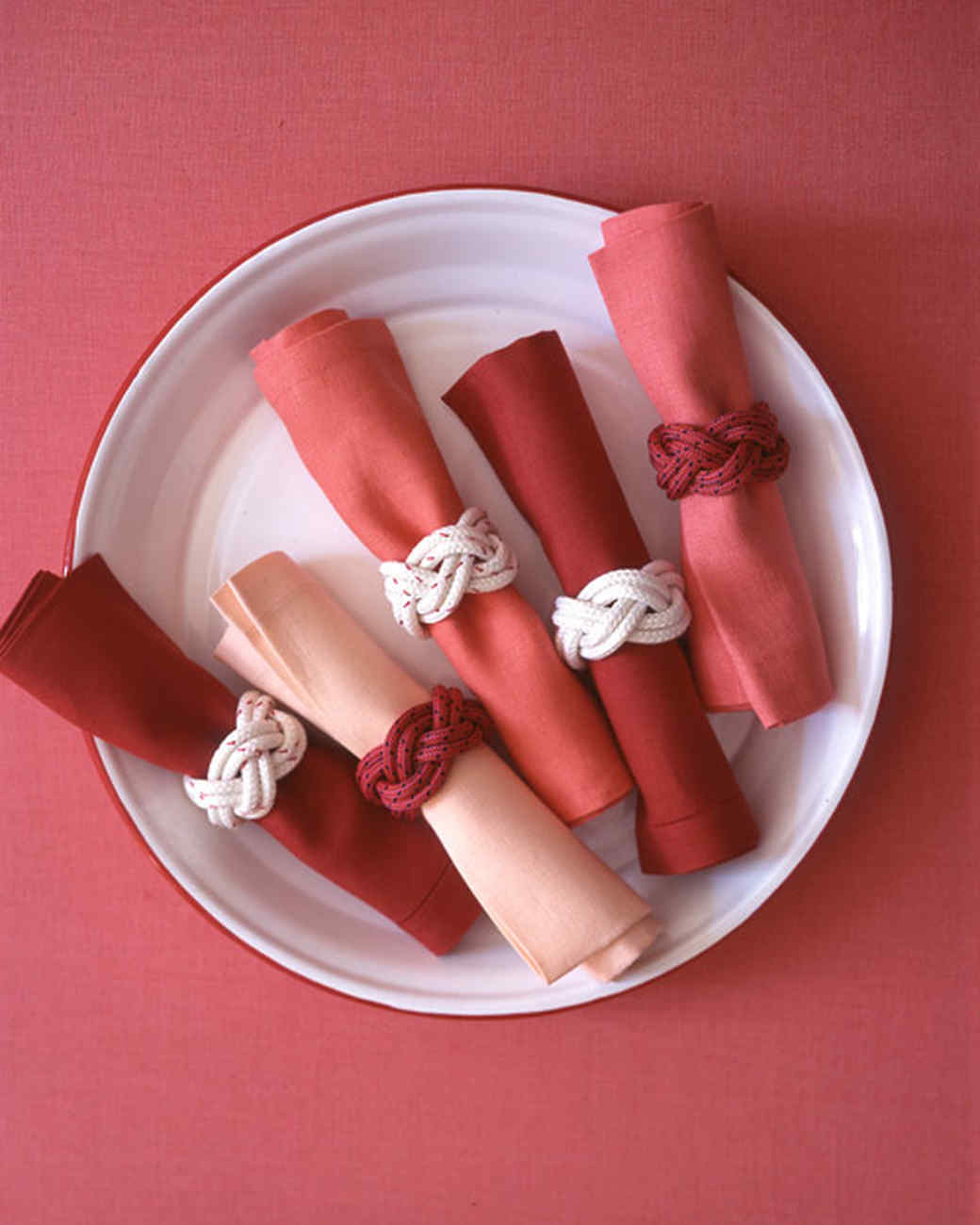 Knotted Napkin Rings