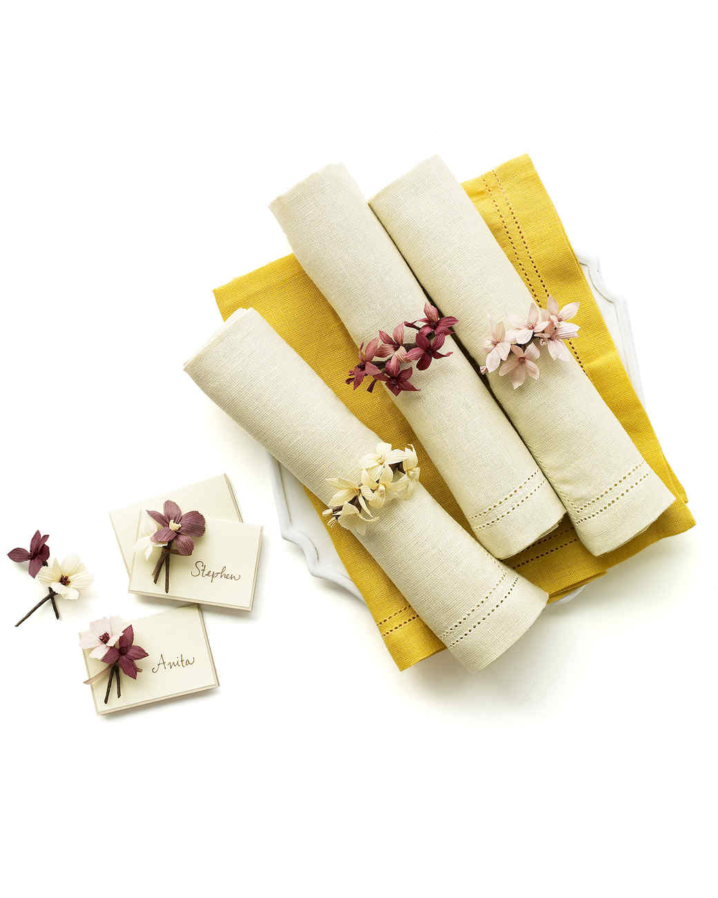 Cornhusk Napkin Rings and Place Cards | Martha Stewart
