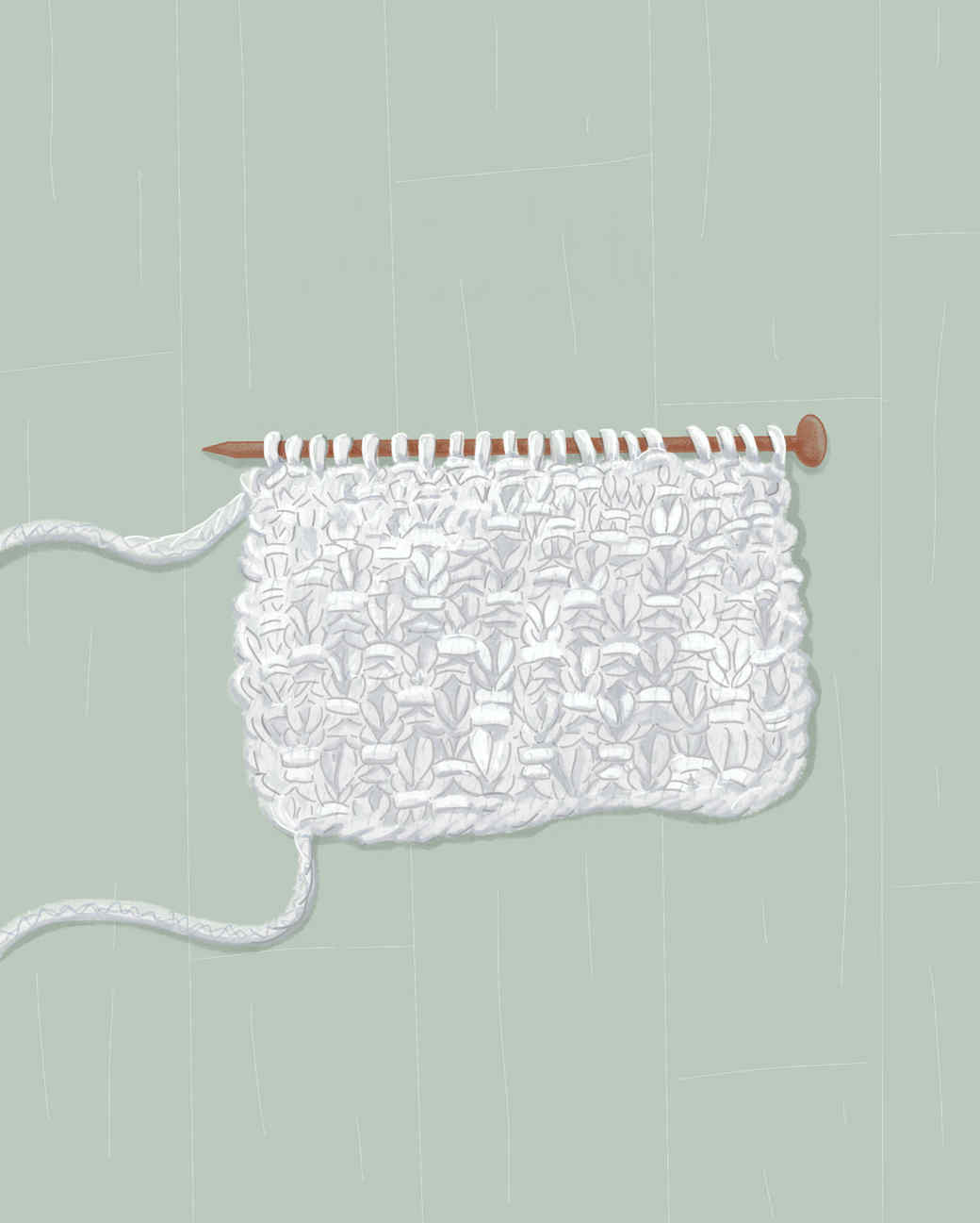 moss stitch in knitting
