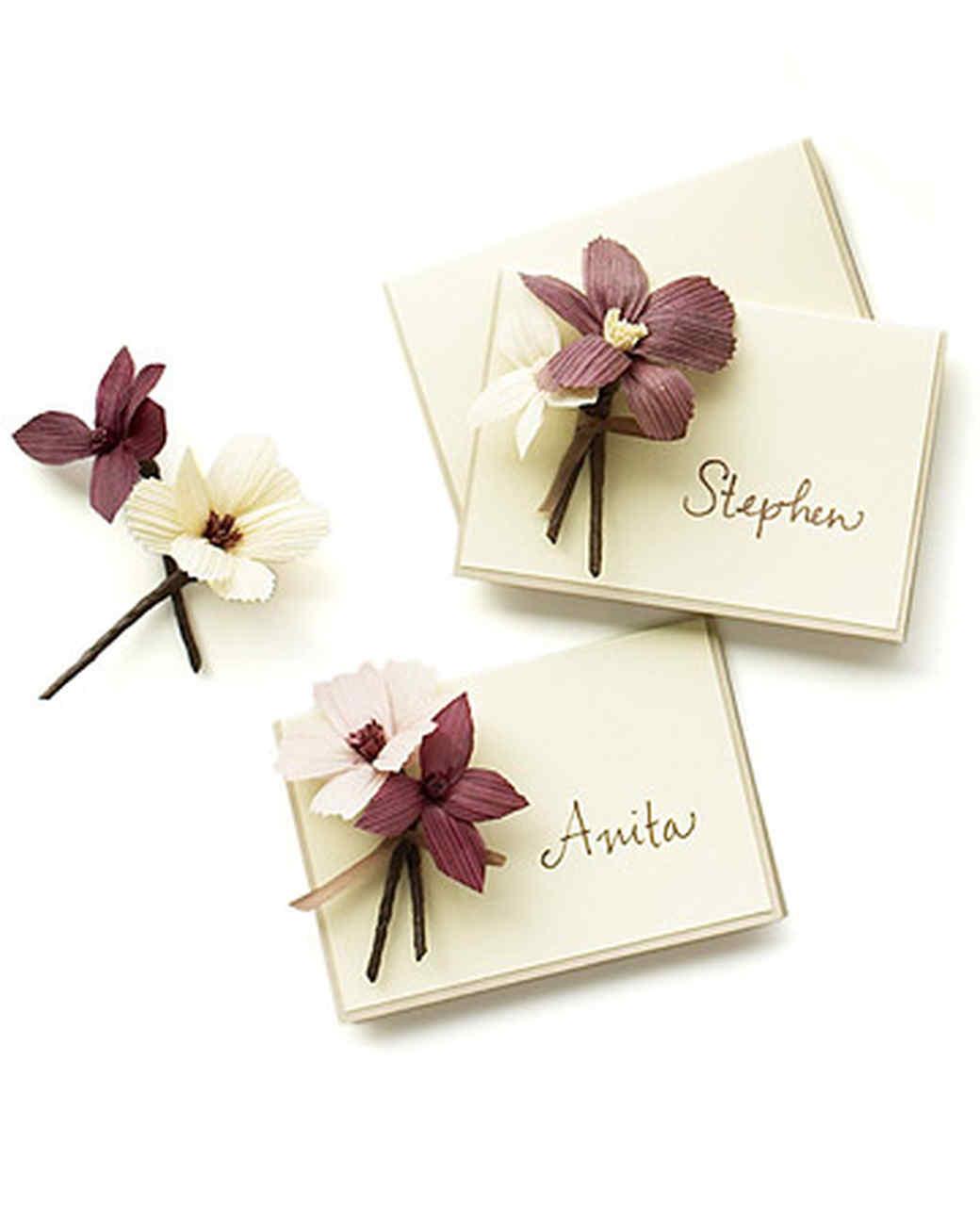 cornhusk place card template fashion flowers