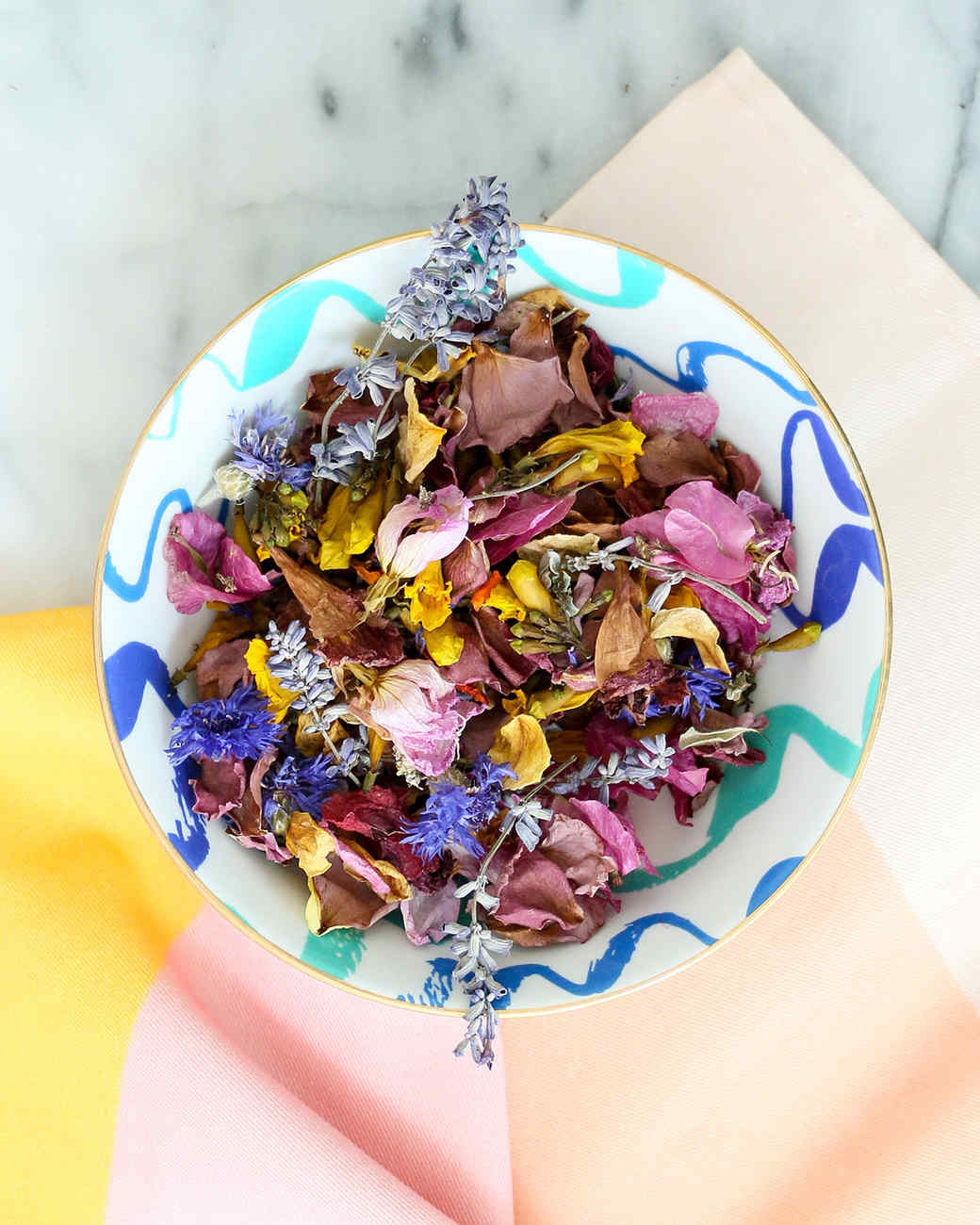 ornate bowl of potpourri