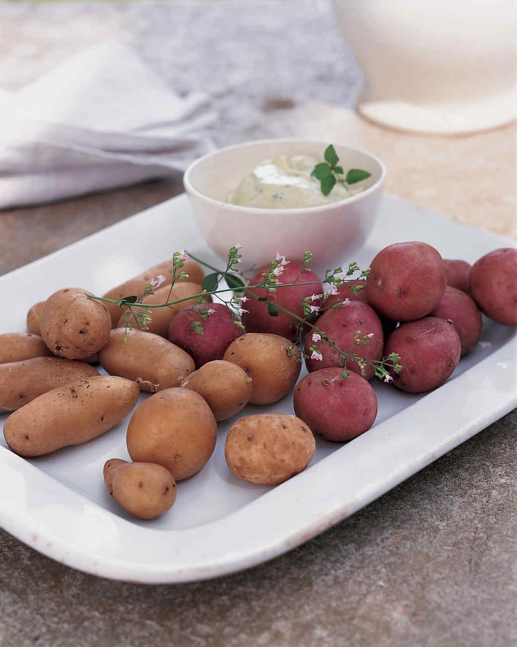 Potatoes with Mint Mayonnaise