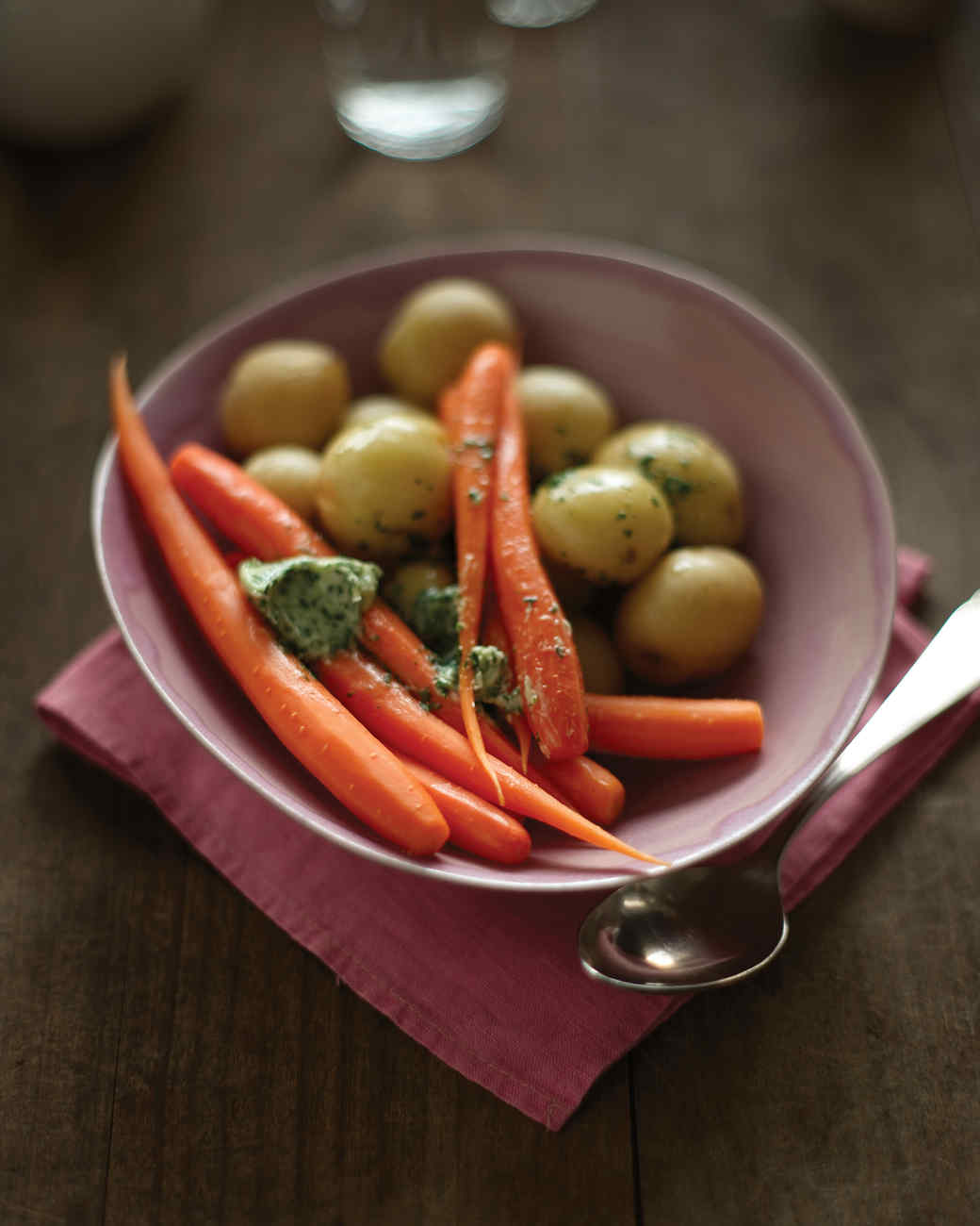 Steamed Potatoes and Carrots with Tarragon Butter