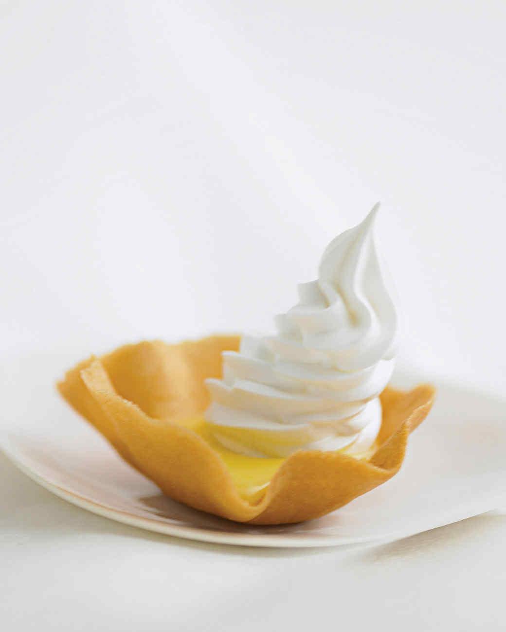 Lemon Tartlets with Meringue Caps