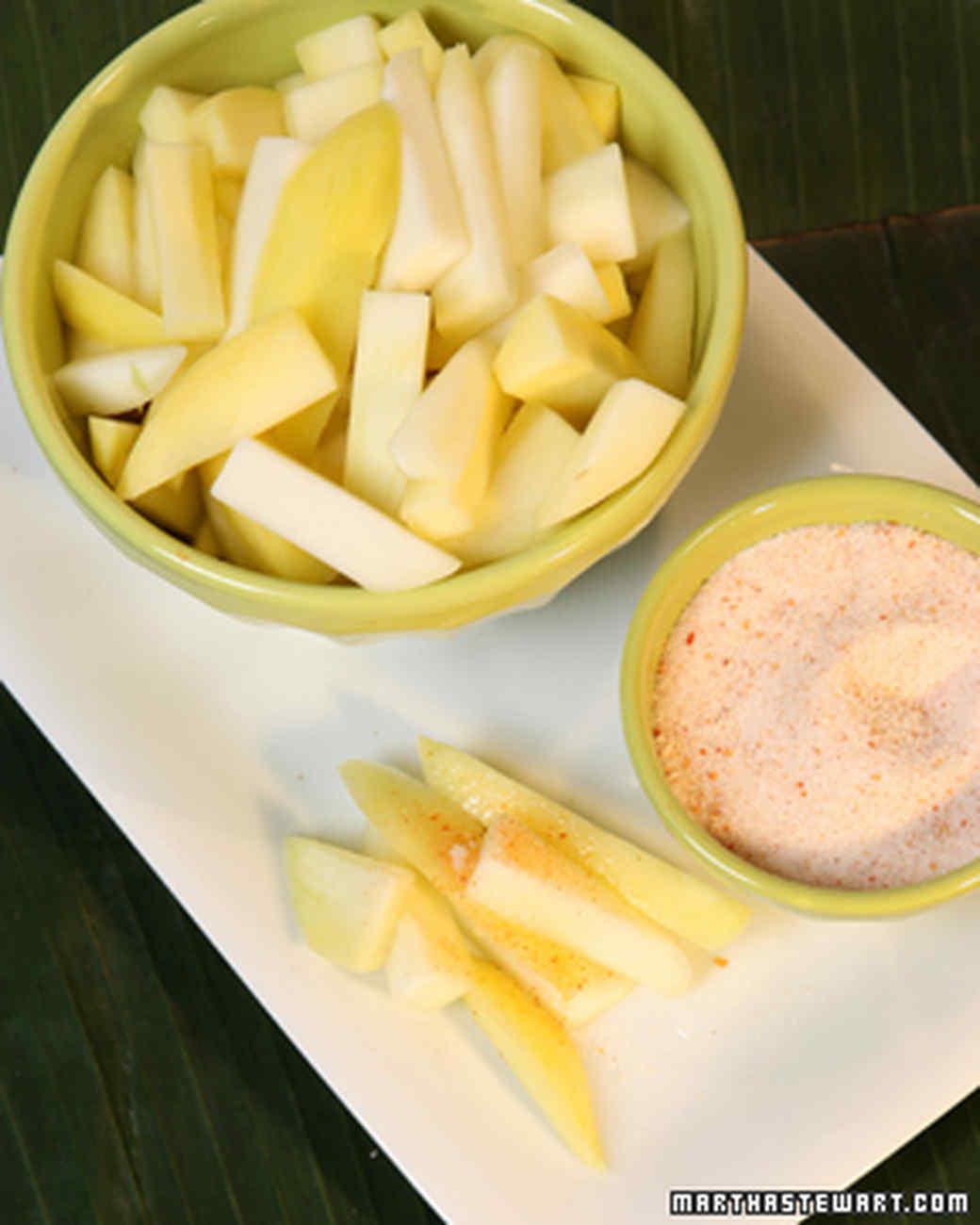 Green Mangos with Chili, Salt, and Sugar