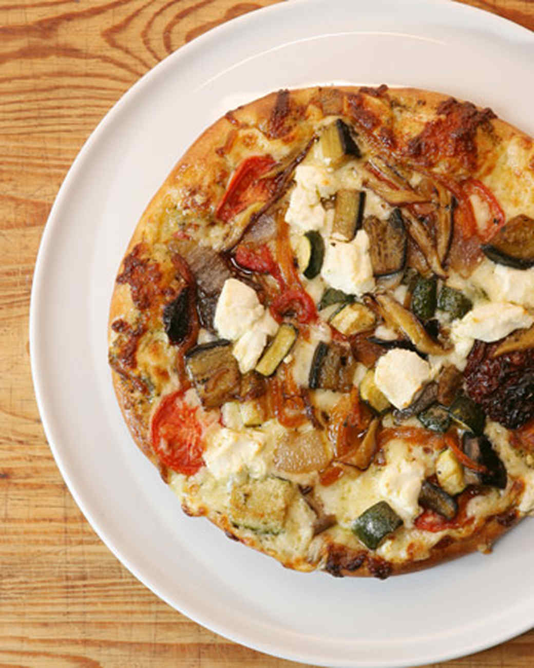 Vegetarian Pizza with Wild Mushrooms and Pesto