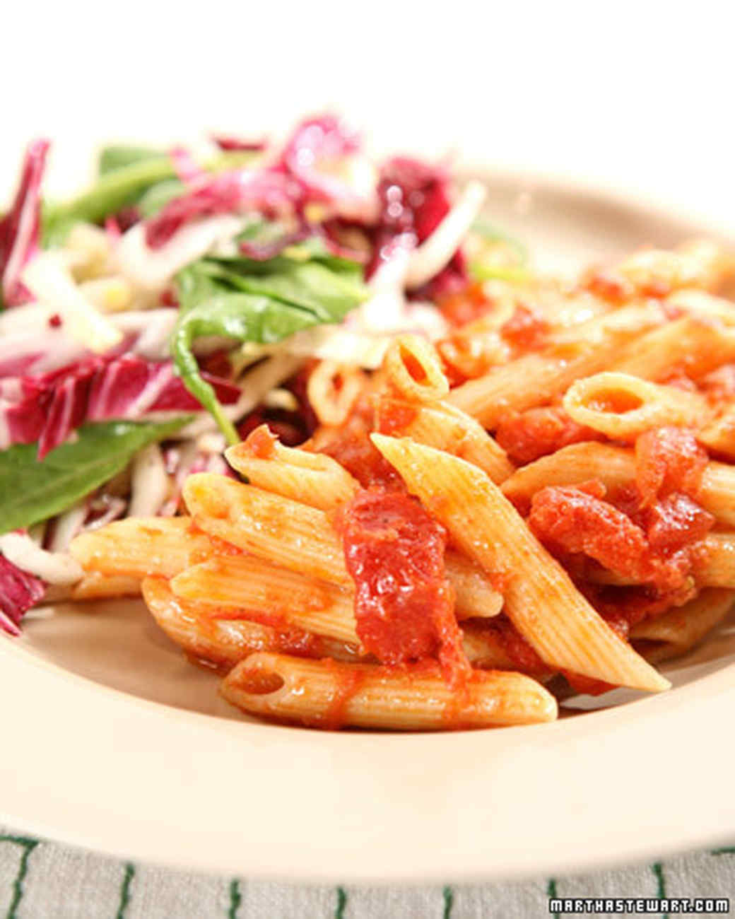 Baked Pasta with Tomatoes and Parmesan