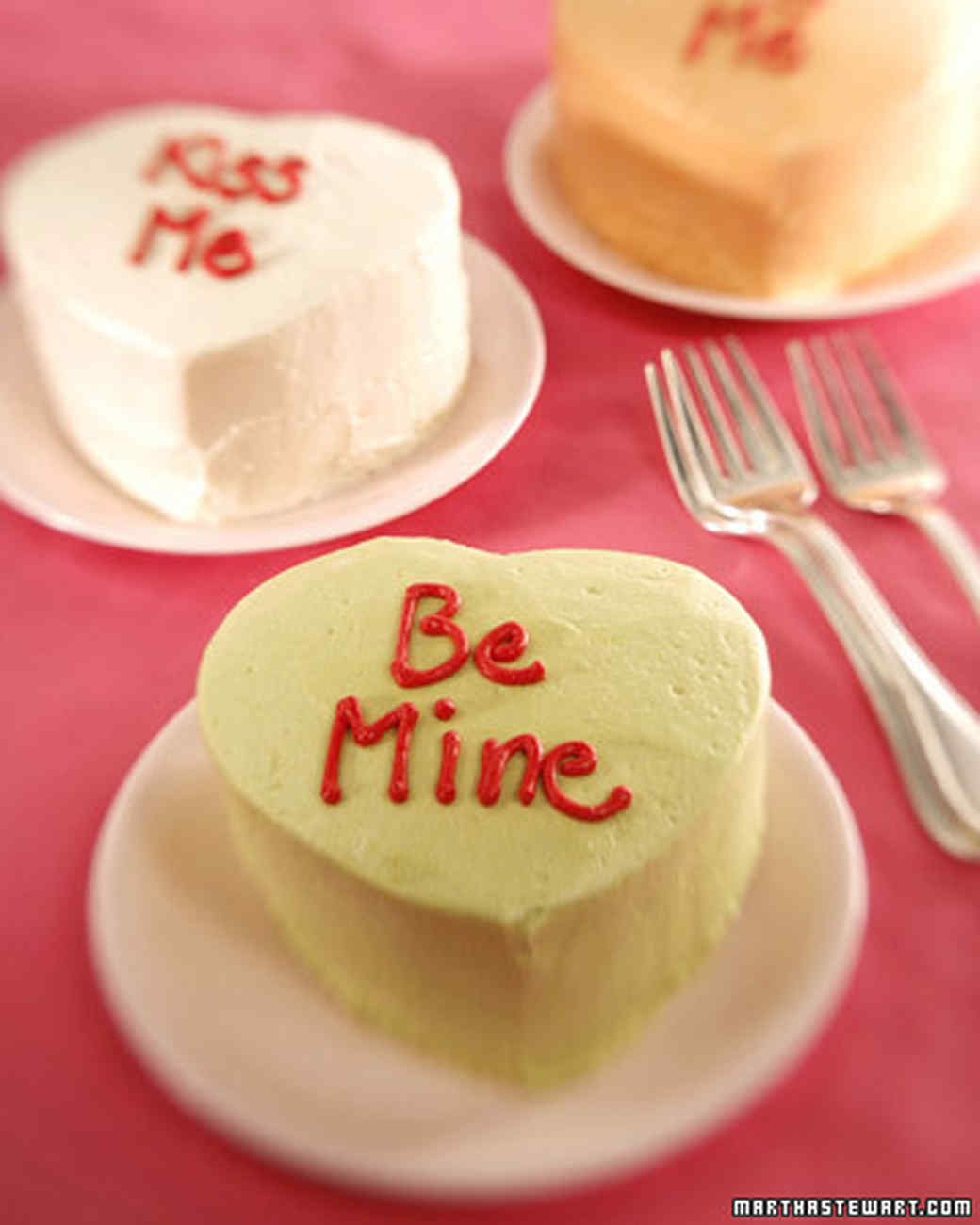 Mini heart shaped cake recipe video martha stewart for Valentine cake recipes with pictures