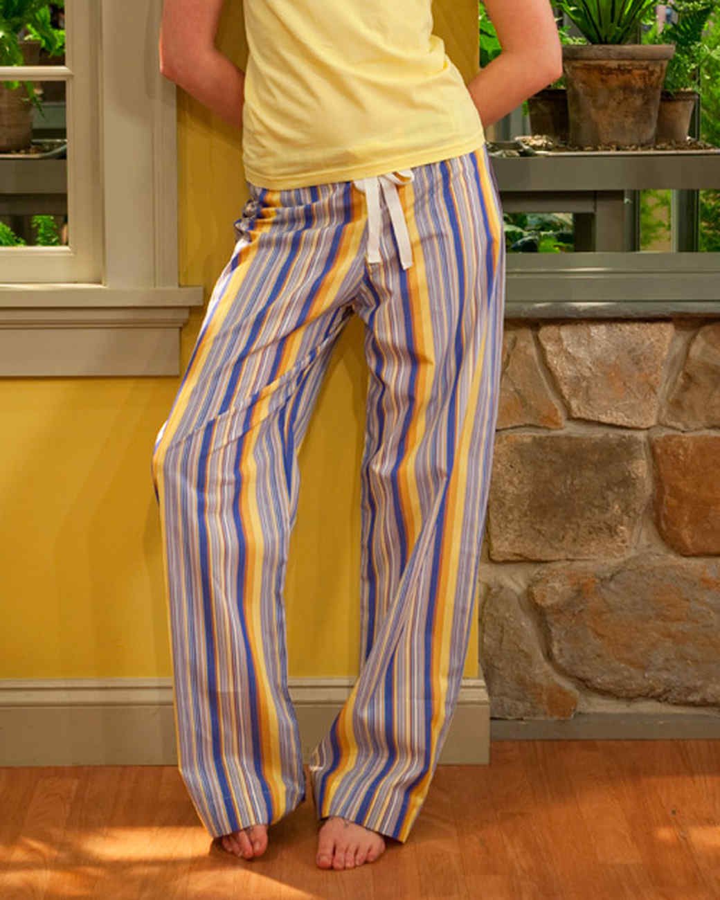 picture about Printable Pajama Pants Pattern titled Drawstring Trousers Movie Martha Stewart