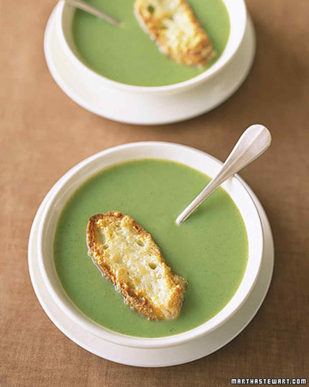 Broccoli-Spinach Soup With Avocado Toasts Recipes — Dishmaps