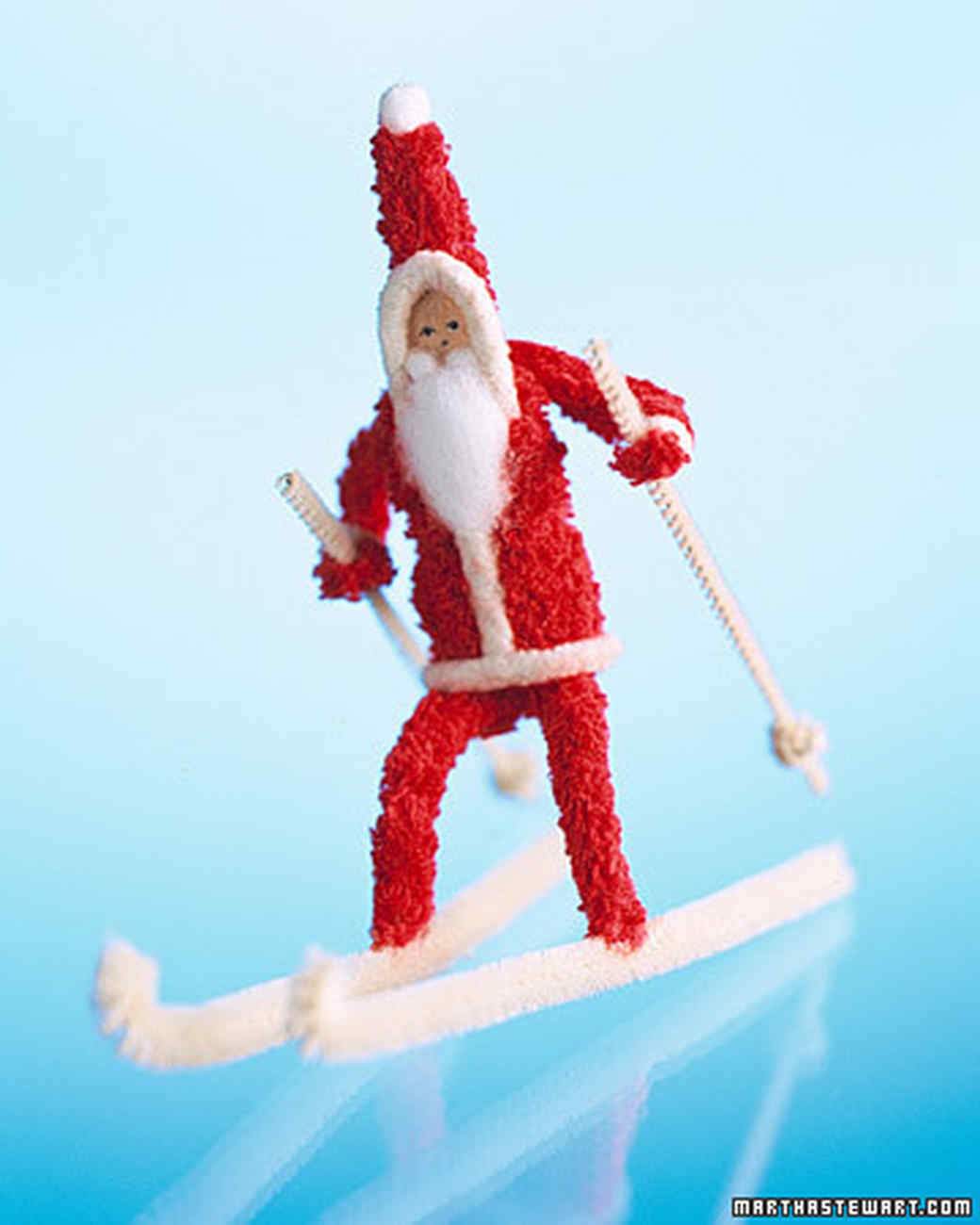 pipe cleaner santa claus - Vintage Pipe Cleaner Christmas Decorations