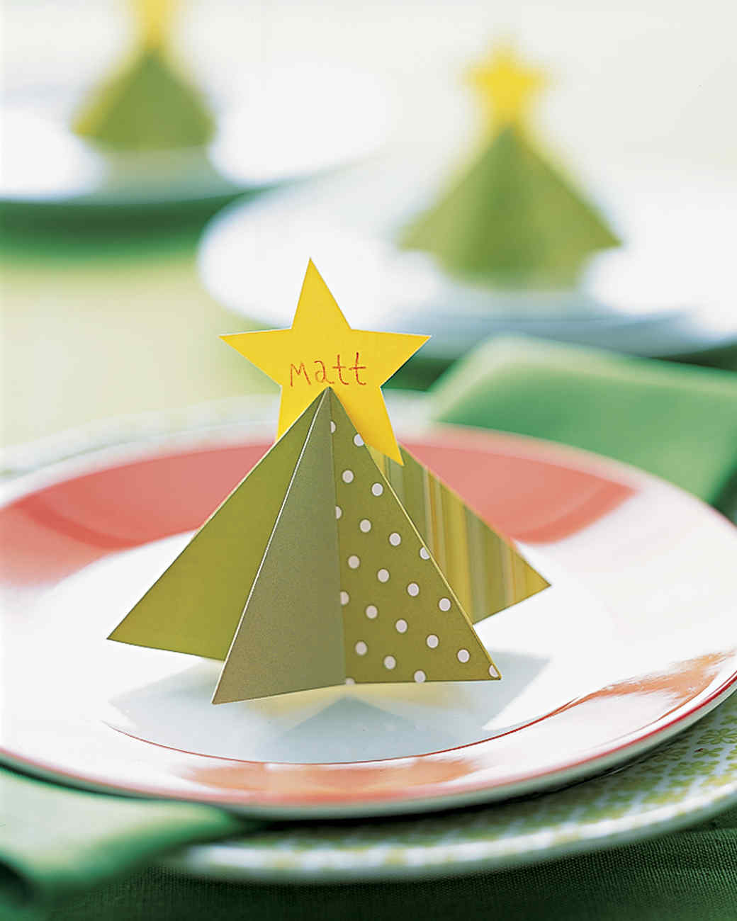 Tree Place Card & Holiday Place Cards | Martha Stewart