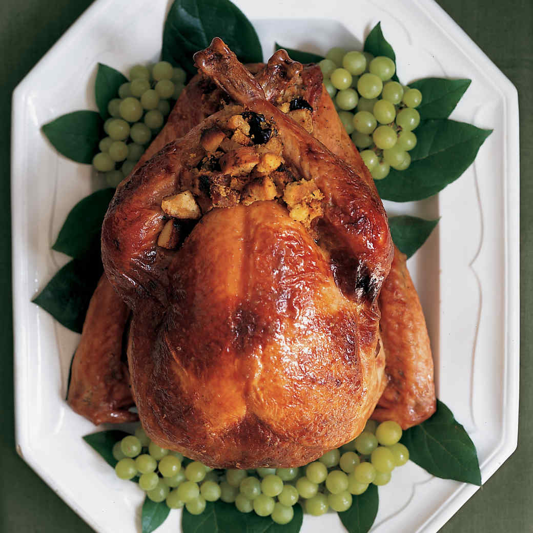 Christmas Turkey.Maple Syrup Glazed Roast Turkey With Riesling Gravy