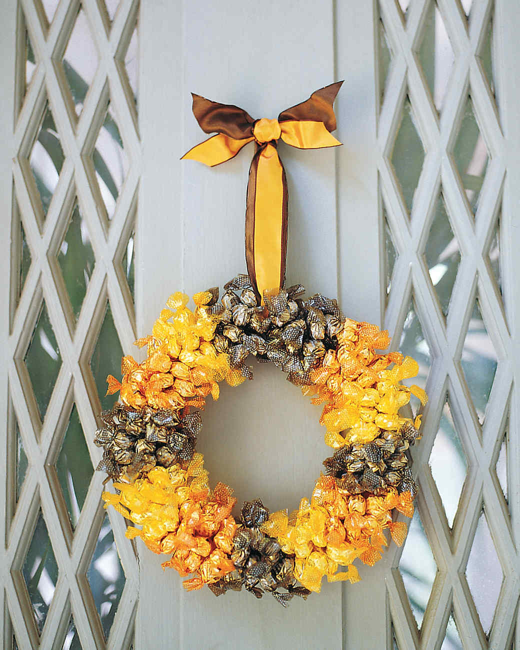Halloween Candy Wreath Martha Stewart