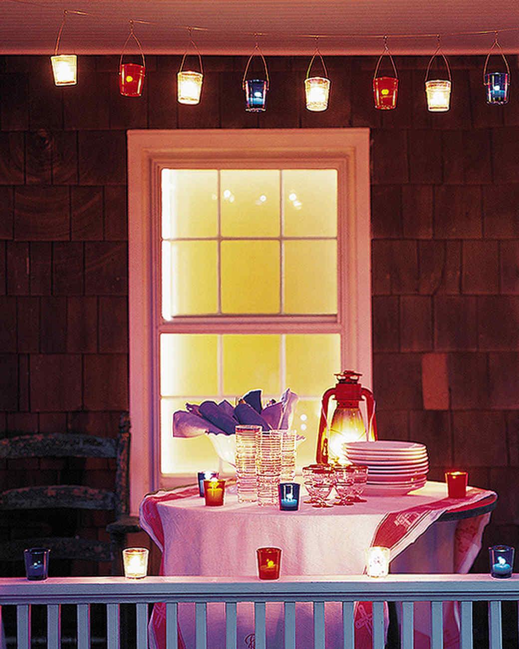 Party Lighting Ideas   Martha Stewart
