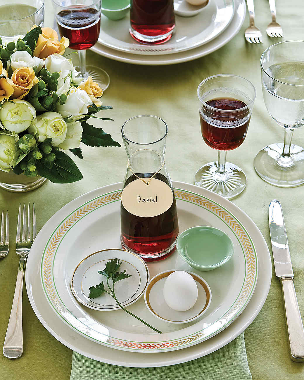 Seder Table Settings
