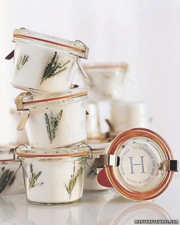 Rosemary Sea Salt Favor | Martha Stewart
