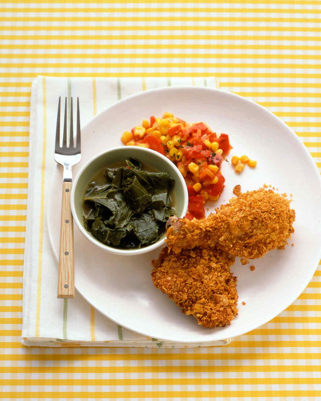 Cornflake-Crusted Baked Chicken Recipe | Martha Stewart