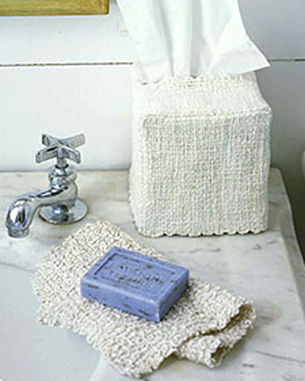 Tissue Box and Facecloth