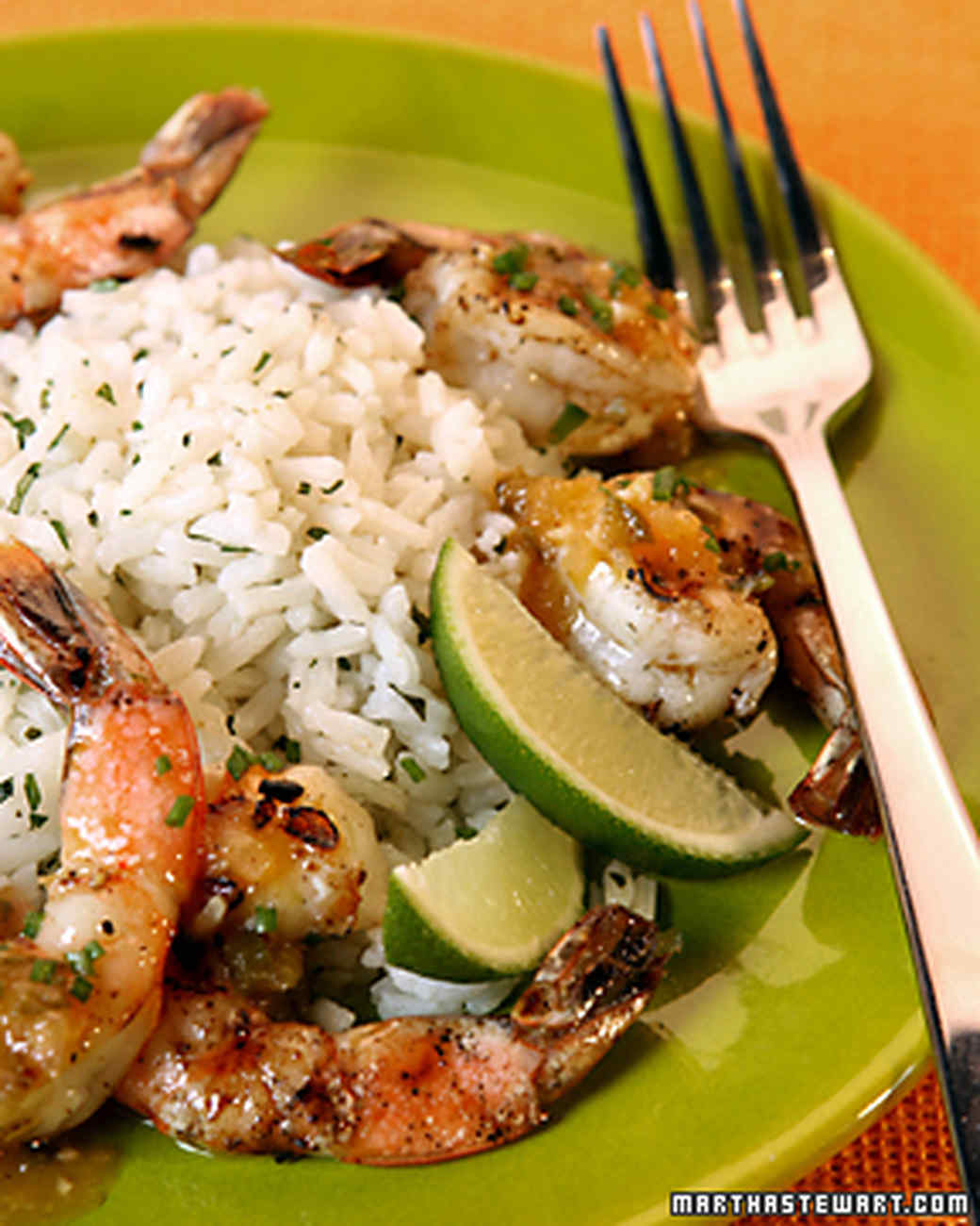 Simple Supper: Tequila-Orange Grilled Shrimp Recipe & Video | Martha ...