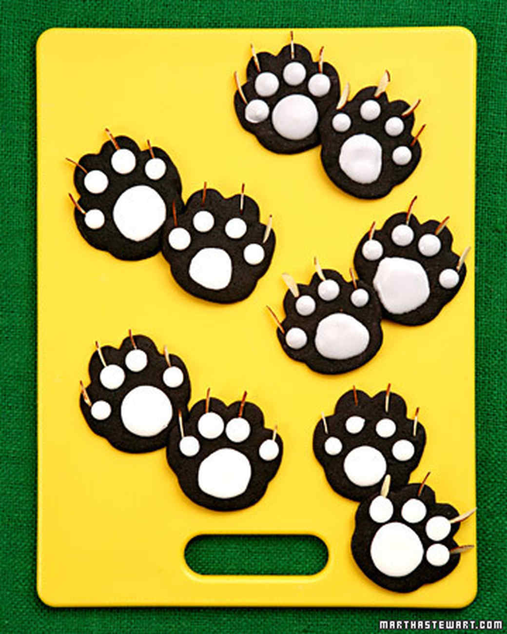 Black Cat Paw Cookies