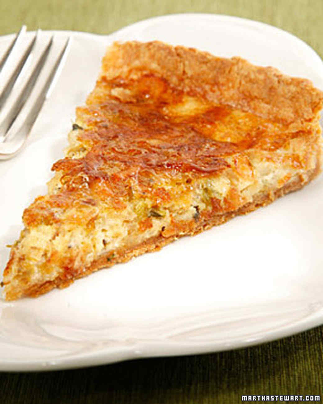 Caramelized Leek Quiche