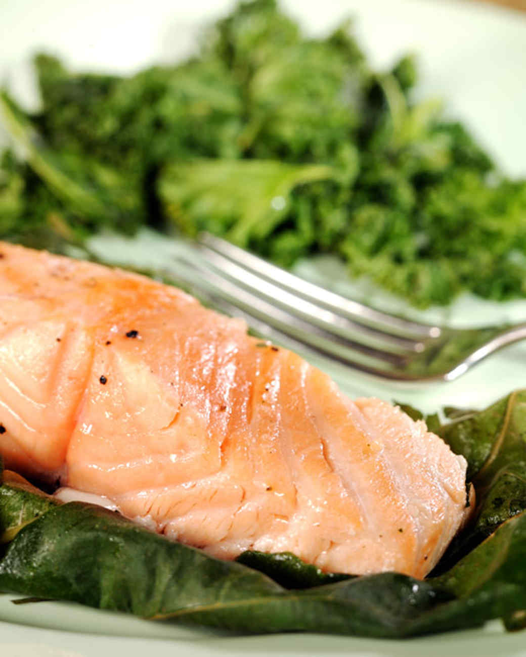 Salmon Wrapped in Fig Leaves