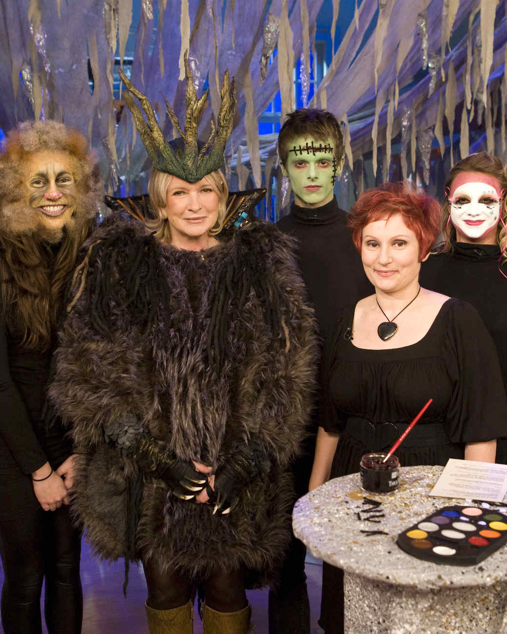 halloween makeup wild thing frankenstein and venetian mask video martha stewart