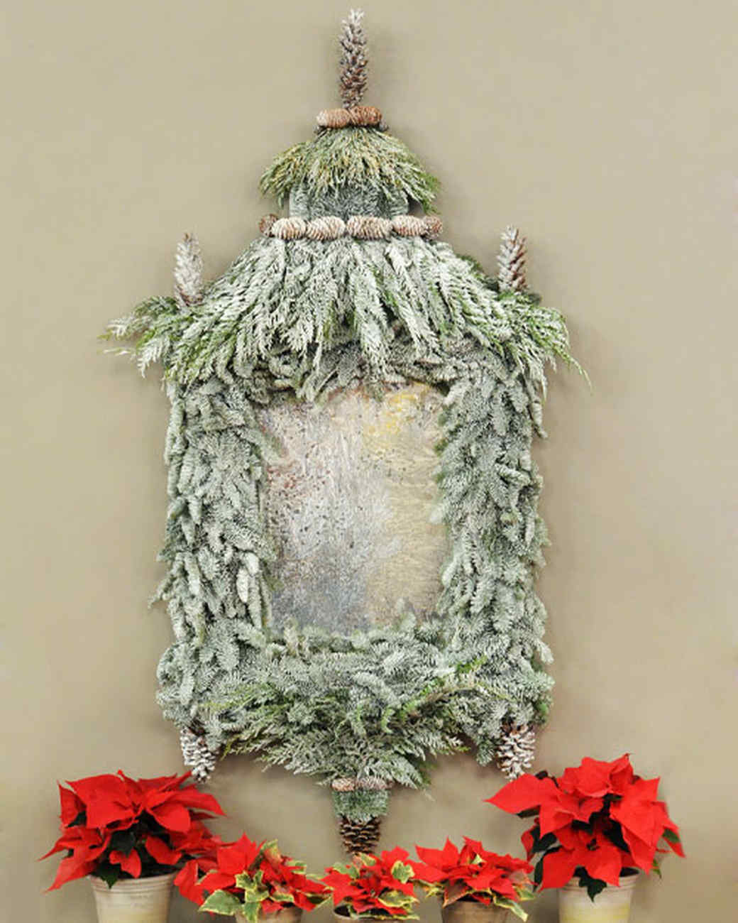 """Winter Mirror """"Wreath"""" Craft"""
