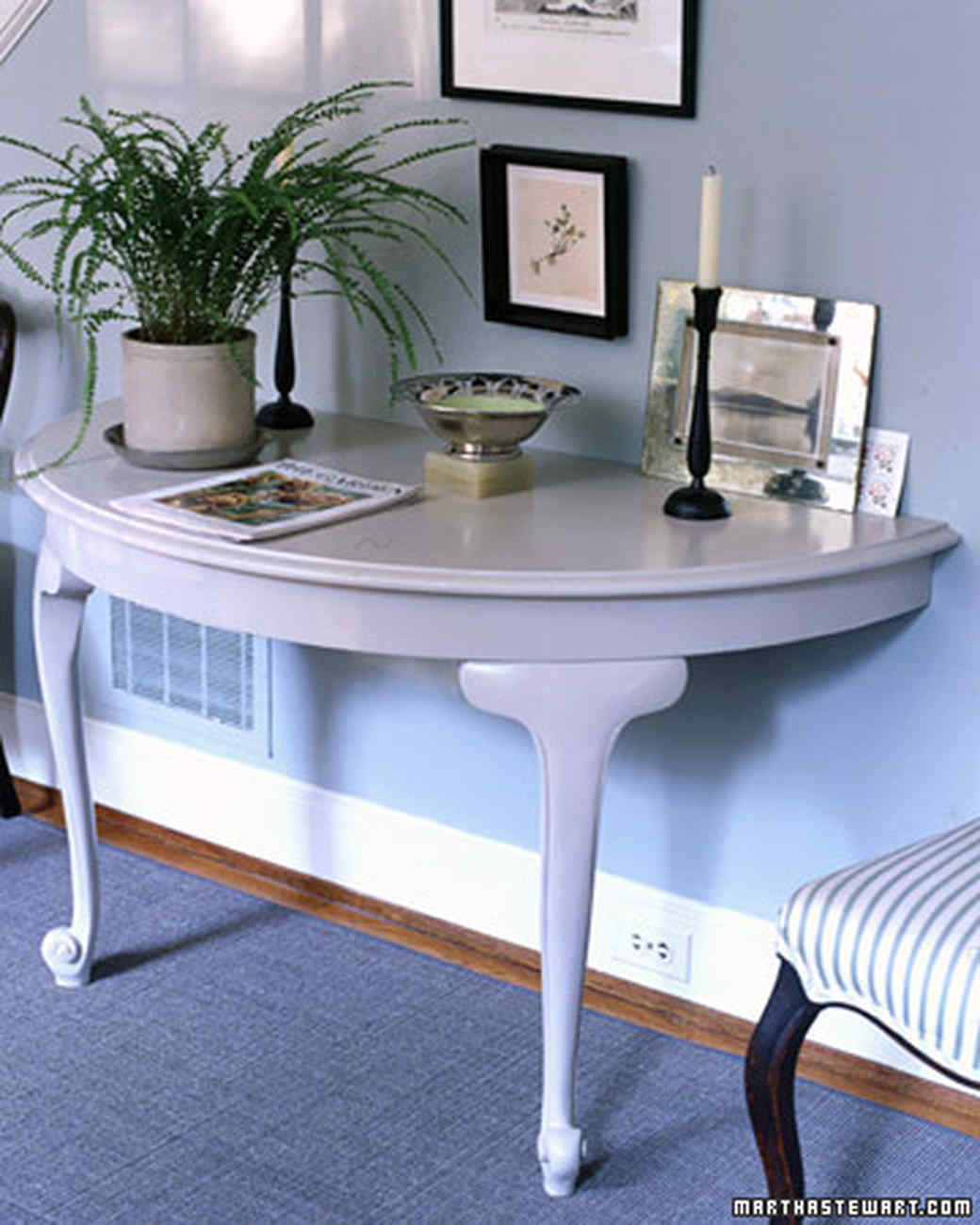 how to repurpose furniture. Half-Table Console How To Repurpose Furniture R