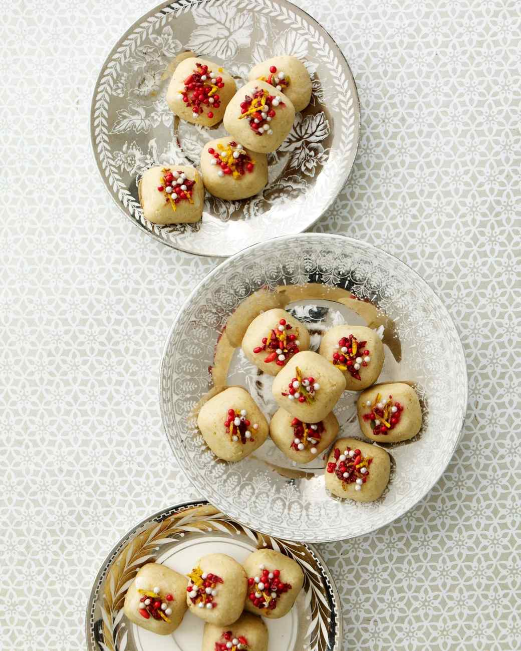 Indian cashew-lime cookies