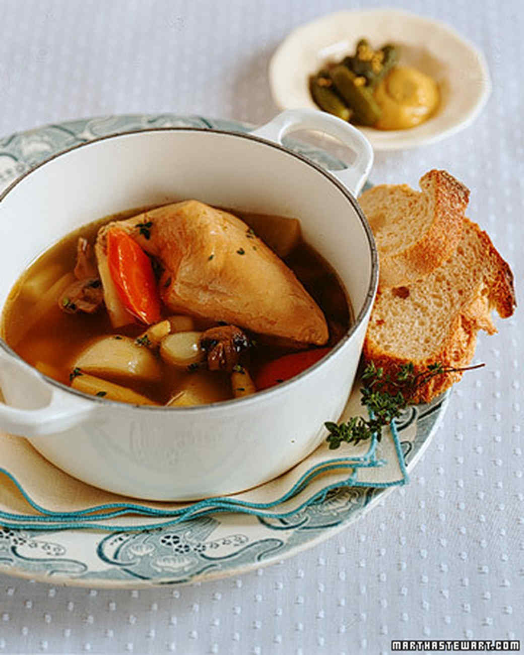 Poached Chicken and Vegetables (Poule au Pot)