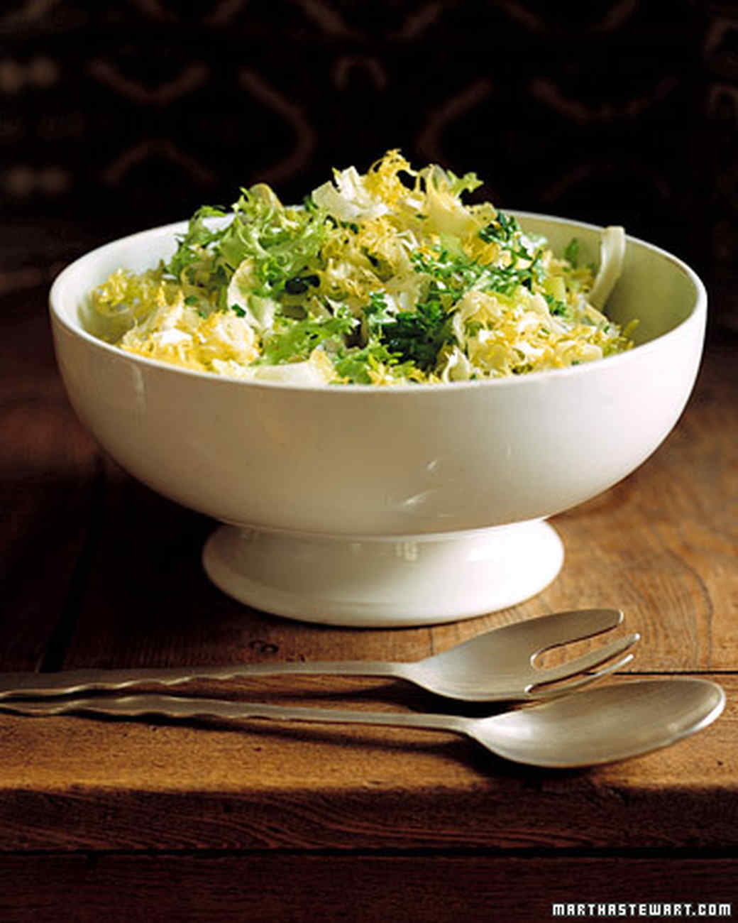 Green and White Salad