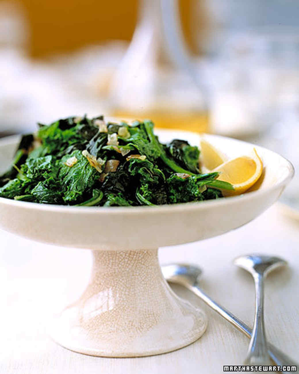 Mustard Greens and Onions
