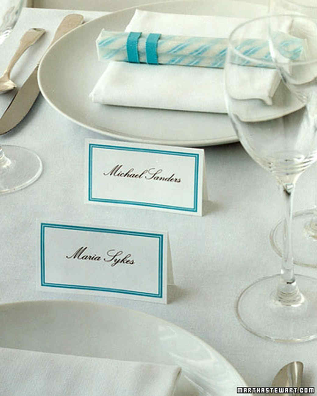 Double-Sided Place Cards | Martha Stewart