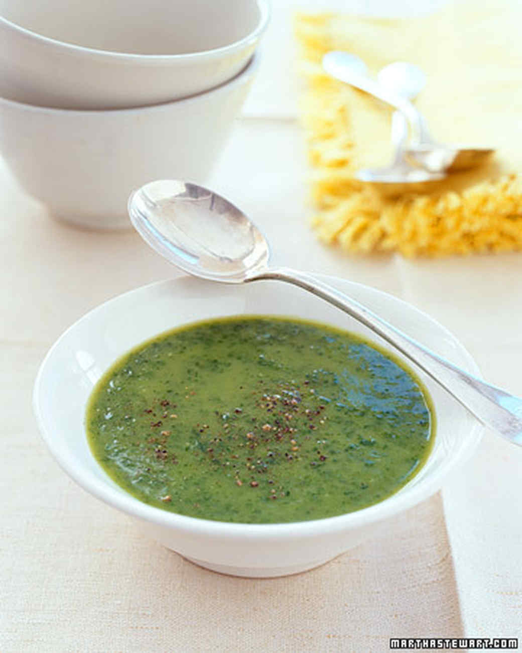 Pureed Spinach-Potato Soup