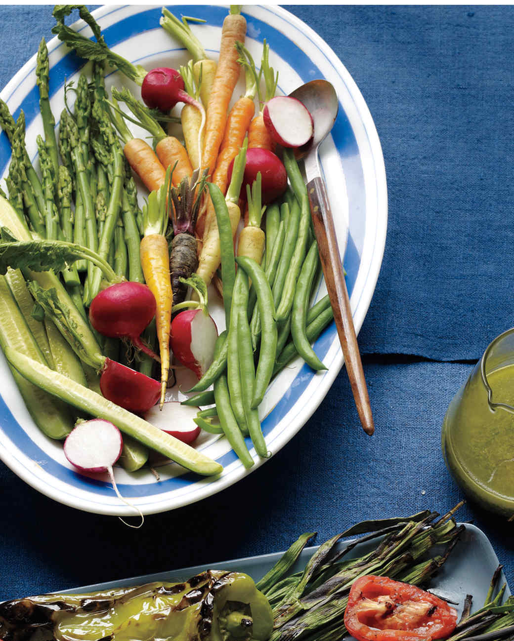 Crudites with Pistachio-Pecorino Pesto