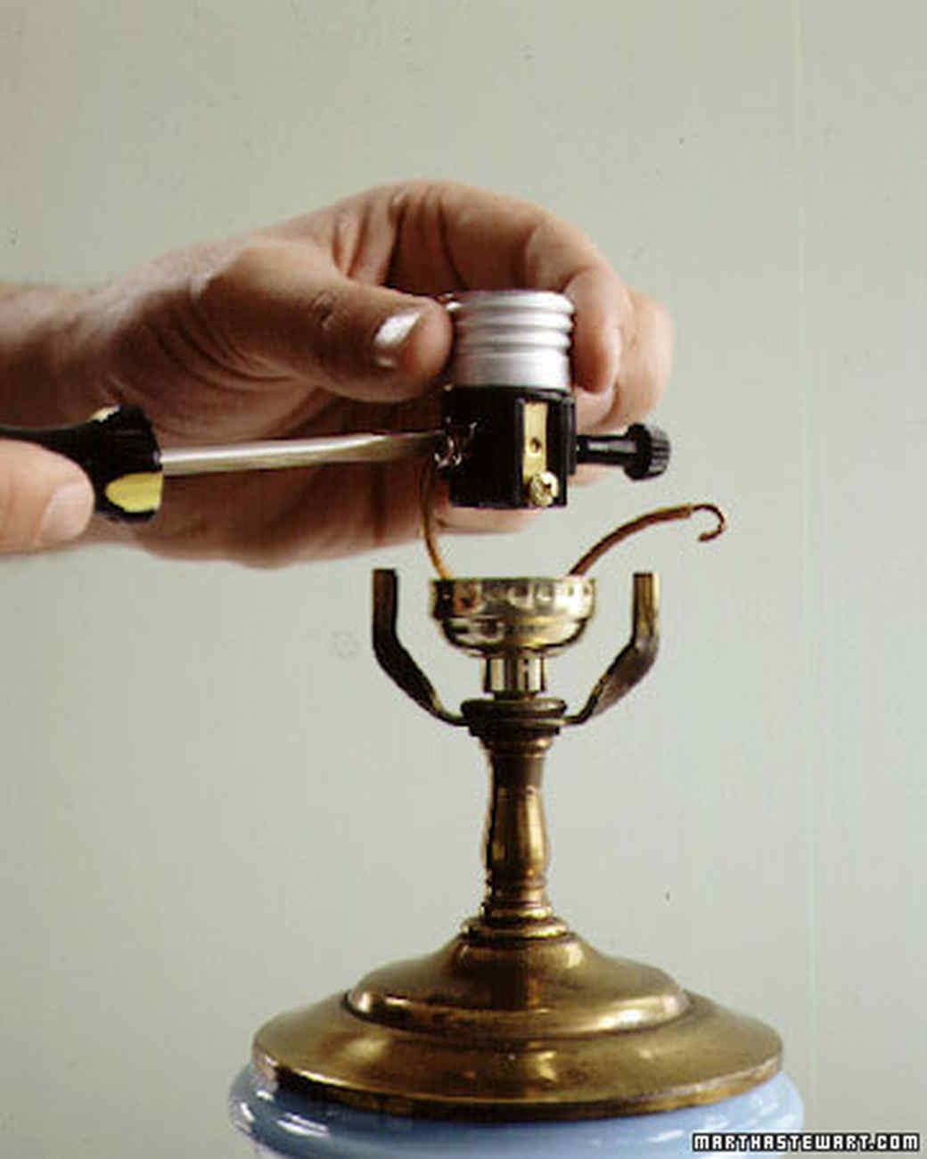 rewiring a lamp martha stewart rh marthastewart com rewiring a lamp with two lights rewiring a lamp instructions