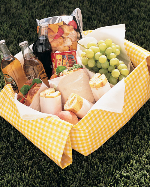 plan a picnic in your backyard martha stewart