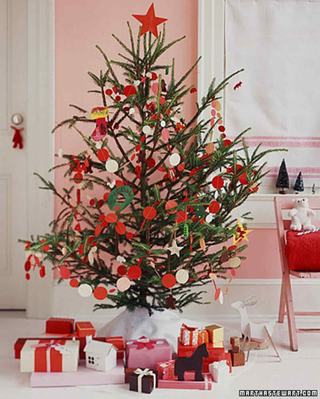 28 creative christmas tree decorating ideas martha stewart - Red Berry Christmas Tree Decorations