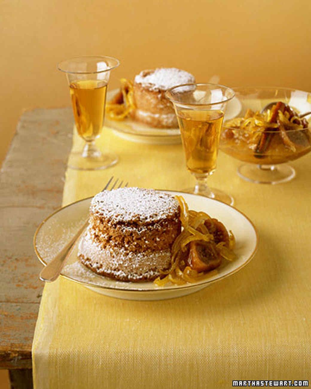 Saffron Cakes with Lemon-Fig Compote