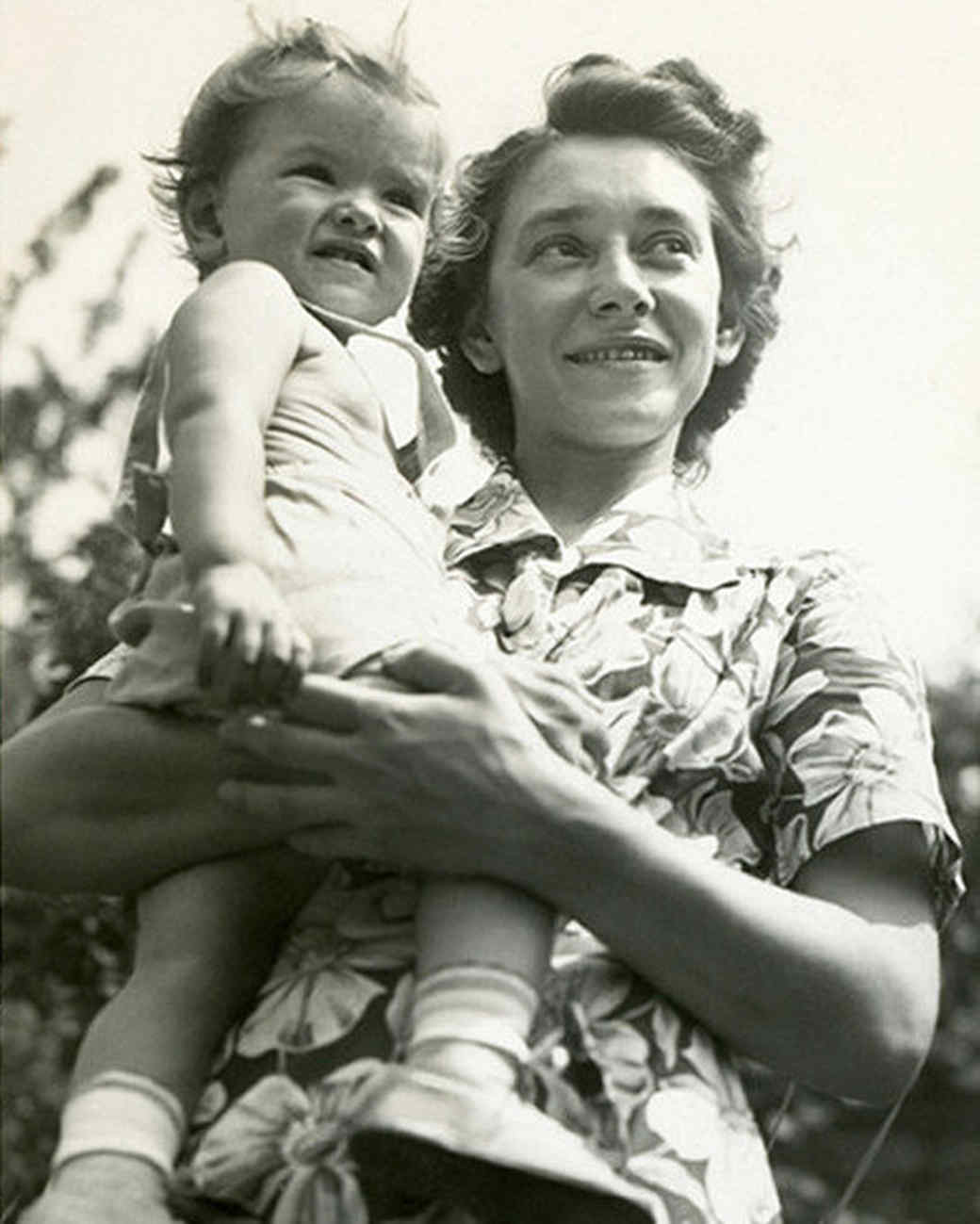 martha and her mother vintage photo