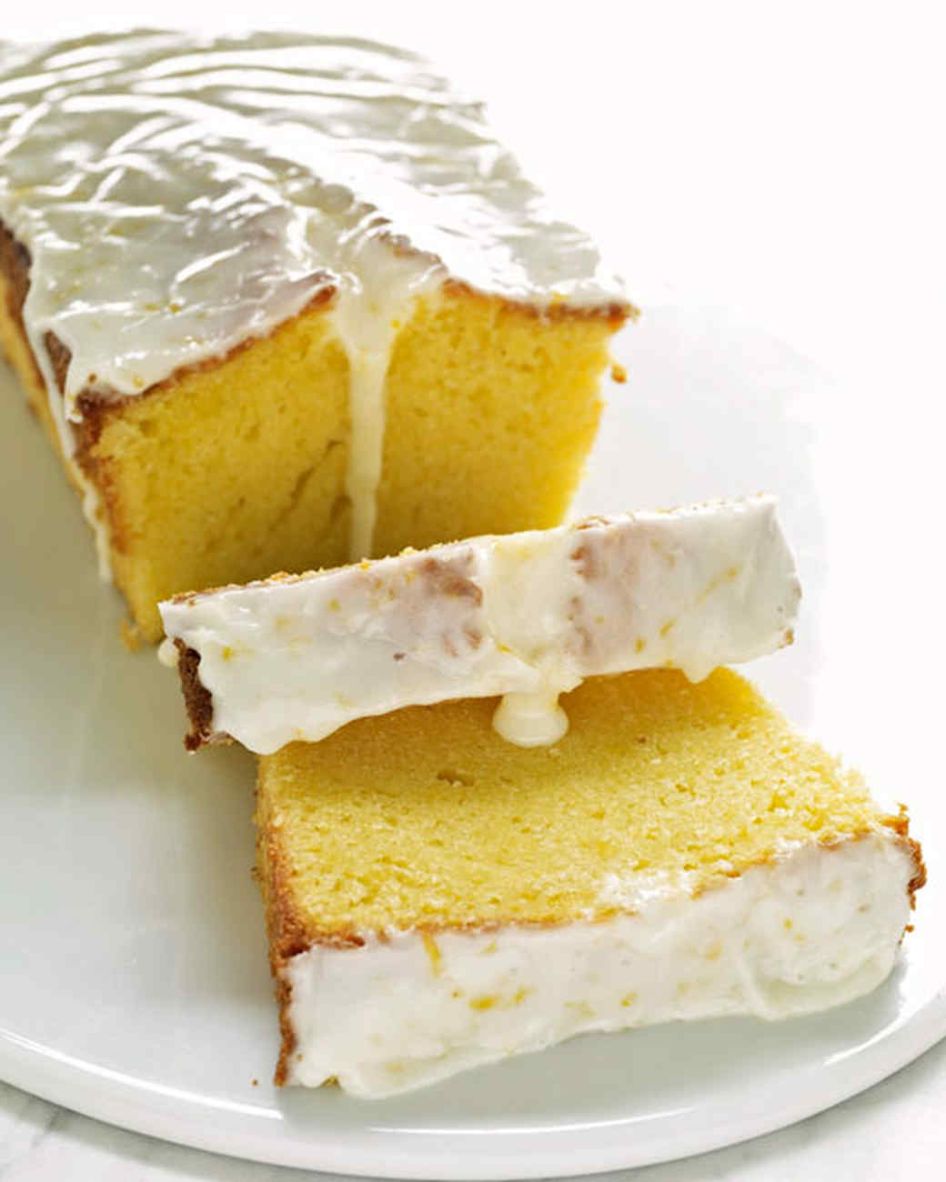 Lemon Glaze Pound Cake Loaf